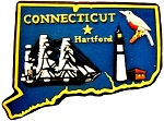Connecticut Multi Color Fridge Magnet