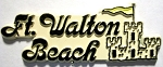 Ft. Walton Beach Florida Fridge Magnet Design 1