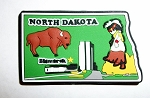 North Dakota Bismarck Multi Color Fridge Magnet Design 18