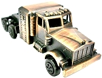 Over the Road Semi Truck Die Cast Metal Collectible Pencil Sharpener