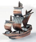 Sailing Ship Die Cast Metal Collectible Pencil Sharpener Design 1