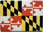 Maryland Flag Porcelain Fridge Magnet Design 25