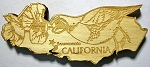 California Laser Etched Wood Fridge Magnet Design 3