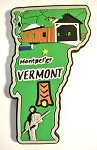 Vermont Multi Color Fridge Magnet Design 18