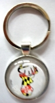 Maryland Flag Deer Head Bubble Keychain Design 10