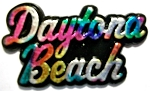 Daytona Beach Florida Multi Color Fridge Magnet Design 1