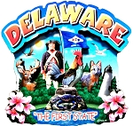 Delaware Montage Artwood Fridge Magnet