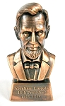 Abraham Lincoln 16th President Bust Die Cast Metal Collectible Pencil Sharpener Design 1