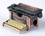 Old Time Typewriter Die Cast Metal Collectible Pencil Sharpener Design 1