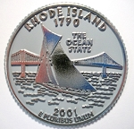 Rhode Island State Quarter Fridge Magnet Design 13