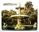 Savannah Georgia with Water Fountain Highlight Fridge Magnet Design 10