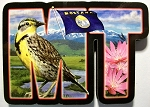 Montana Initial Artwood Fridge Magnet Design 19