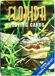 Florida with Gator Souvenir Playing Cards Design 1