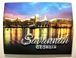 Savannah Georgia on the River Night Scene Highlight Fridge Magnet Design 10