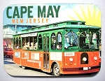 Cape May New Jersey with Trolley Photo Fridge Magnet Design 26