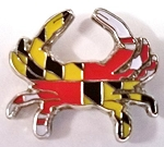 Maryland Flag Design Crab Hat Tac or Lapel Pin Design 10