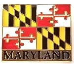 Maryland Flag Hat Tac or Lapel Pin Design 10