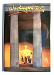 Lincoln Memorial Washington D.C. Postcard Fridge Magnet Design 10