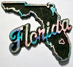 Florida Multi Color Fridge Magnet Design 1
