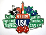 New Jersey Street Signs Fridge Magnet Design 27