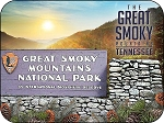 Great Smoky Mountains Tennessee Park Sign Fridge Magnet