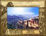 Grand Canyon National Park with Bobcat Laser Engraved Wood Picture Frame (5 x 7)