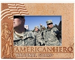 National Guard American Hero Laser Engraved Wood Picture Frame