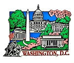 Washington D.C. Collage with Cherry Blossoms Fridge Magnet