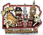 Philadelphia Pennsylvania Montage Fridge Magnet Design 27
