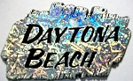 Daytona Beach Florida Silver Foil Fridge Magnet Design 1
