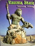 Virginia Beach Neptune Statue on Boardwalk Highlight Fridge Magnet Design 10