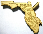 Florida Laser Etched Wood Fridge Magnet
