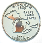 Michigan State Quarter Fridge Magnet Design 13