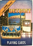 Detroit Night Scene Souvenir Playing Cards Design 1