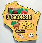Wisconsin Multi Color Fridge Magnet Design 18