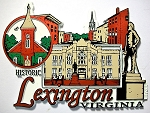 Historic Lexington Virginia Fridge Magnet Design 27
