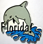 Florida with Dolphin Fridge Magnet Design 1