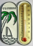 Florida with Sailboat Thermometer Fridge Magnet Design 1