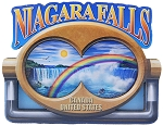 Niagara Falls with Binoculars Artwood Fridge Magnet Design 27