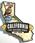 California Classic Artwood Jumbo Magnet Design 12