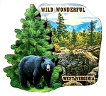 Wild Wonderful West Virginia Artwood Fridge Magnet