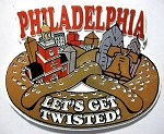 Philadelphia let's get Twisted Fridge Magnet