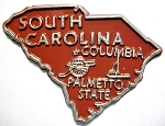 South Carolina State Outline Fridge Magnet Design 10