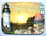 Key West Florida with Lighthouse Fridge Magnet