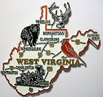 West Virginia Road Map Fridge Magnet Design 27