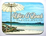 Cancun Mexico Life's a Beach with Umbrella Fridge Magnet Design 26