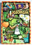 Georgia Cartoon Map Fridge Magnet Design 27