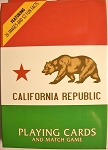 California Republic Souvenir Playing Cards Design 1