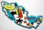 Mexico 5 Color Fridge Magnet