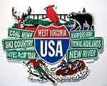 West Virginia Street Signs Fridge Magnet Design 27